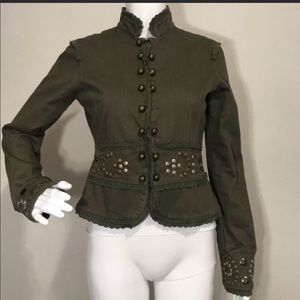 Miss Me Studded Military Jacket Size Small